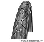 Pneu de vélo city 550x35a impact hs166 noir/brun tr (22x1 3/8) (37-490) marque Schwalbe - Pièce Vélo
