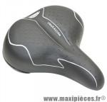 Selle city spirit dame gel élastomère noir 245x208mm marque DDK - Accessoire Vélo