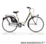Vélo city bike 26 liberty acier femme monovitesse crème/rouge fonce (taille 44) marque Cinzia - Vélo - Vélo de Ville complet