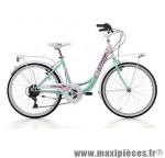 Vélo city bike 24 liberty acier bleu/blanc 6v t41 (shimano ty-21+rs-35) marque Jumpertrek - Vélo - Vélo de Ville complet