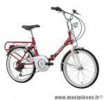Vélo pliant 20 firenze acier 6v rouge (taille 31) (shimano rs-35+ty-21) marque Cinzia - Vélo - Autres vélos complet