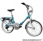Vélo pliant 20 firenze acier 6v bleu (taille 31) (shimano rs-35+ty-21) marque Cinzia - Vélo - Autres vélos complet