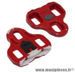 Cale pédale keo rouge 9°(paire) marque Look - Matériel pour Cycle