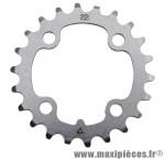 Plateau 22 dents VTT triple d.64 intérieur argent acier 4 branches marque Stronglight - Pièce Vélo