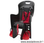 Porte bébé arrière a fixer sur porte bagage boodie noir coussin rouge marque Polisport - Pièce Vélo