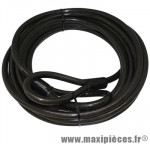 Antivol vélo cable a boucle spécial magasin renforce diamètre 15mm l 10,00m - Accessoire Vélo Pas Cher