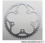 Plateau 48 dents route d.110 compact extérieur dural argent marque Stronglight - Pièce Vélo *prix spécial !