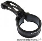 Collier serrage tige de selle avec arrêt de gaine diam 35mm alu noir pour cyclo-cross - Accessoire Vélo Pas Cher