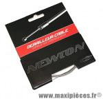 Cable de derailleur inox pour shimano et adaptable 1,1mm 2,10m sur carte) marque Newton - Pièce Vélo