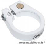 Collier serrage tige de selle chc alu blanc diamètre 31,8mm - Accessoire Vélo Pas Cher