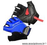 Gant de vélo été air zone gel bleu M protect canal carpien (paire) marque Chiba - Equipement Vélo