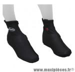 Couvre chaussure vélo hiver noir l (zip + velcro) (paire) - Accessoire Vélo Pas Cher pour cycliste