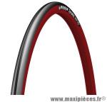Pneu pour vélo de route 700x23 dynamic sport noir/rouge tr (23-622) marque Michelin - Pièce Vélo
