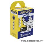 Chambre à air de vélo et de dimensions 29x1.90-2.10 a4 valve presta longueur 40mm marque Michelin - Pièce Vélo