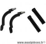 Coude v-brake 2 pièces 90° + 110° avec soufflet (paire) - Accessoire Vélo Pas Cher