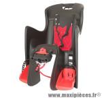 Porte bébé arrière a fixer sur cadre boodie noir coussin rouge marque Polisport - Pièce Vélo