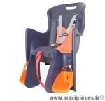Porte bébé arrière a fixer sur porte bagage boodie bleu coussin orange marque Polisport - Pièce Vélo