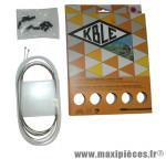 Prix spécial ! Kit de gaine dérailleur Kble compatible Shimano/Sram (gaine blanche/cable inox)