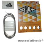 Prix spécial ! Kit de gaine dérailleur Kble compatible Shimano/Sram (gaine grise/cable inox)