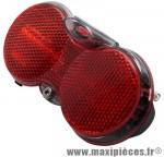 Eclairage vélo pile arrière hgoggle xi 3 diodes on-off auto porte bagage marque Herrmans - Pièce Vélo