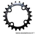 Plateau 22 dents VTT triple/double d.64 intérieur noir 4 branches marque Miche - Pièce Vélo