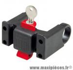 Fixation de panier avant sur cintre diam 22-26mm (avec antivol) marque Klickfix - Accessoire Vélo