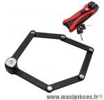 Antivol vélo pliable fs300 l 85cm rouge type couteau marque Trelock - Accessoire Vélo