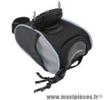 Sacoche de selle medium noir/gris fixation a clip (lg14xl9xh6 - 0.8litre) marque Newton - Pièce Vélo