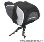Sacoche de selle petite noir/gris fixation a velcro (lg13xl7xh5 - 0.6 litres) marque Newton - Pièce Vélo