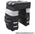 Prix spécial ! Sacoche de vélo triple arrière avec sac à dos et housse de pluie