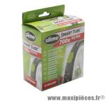 Chambre à air de vélo et de dimensions 700x35-43 valve standard avec liquide anti-crevaison marque Slime - Pièce Vélo