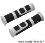 Poignée VTT evo blanc/noir l120mm (paire) marque Progrip - Pièce Vélo