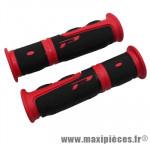 Poignée VTT evo rouge/noir l120mm (paire) marque Progrip - Pièce Vélo