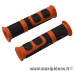 Poignée VTT evo orange/noir l120mm (paire) marque Progrip - Pièce Vélo