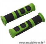 Poignée VTT evo vert/noir l120mm (paire) marque Progrip - Pièce Vélo
