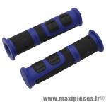 Poignée VTT evo bleu/noir l120mm (paire) marque Progrip - Pièce Vélo