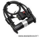 Antivol vélo u 160x245mm avec clé plate acier avec cable boucle 1,20m marque Newton - Pièce Vélo