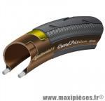 Pneu pour vélo de route 700x23 grand prix noir/noir 230g 180pi ts (23-622) marque Continental - Pièce Vélo