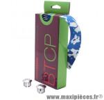 Prix spécial ! Ruban de guidon BikeRibbon CORK PLUS bleu/blanc sans liège