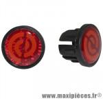 Bouchon de cintre route rouge reflect (paire) marque BikeRibbon - Pièce Vélo