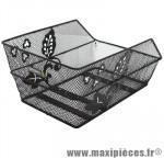 Panier arrière acier maille cento fleur noir (39x24x21cm) marque Basil - Matériel pour Cycle