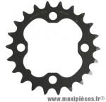 Plateau 22 dents VTT triple deore m590/lx 9v. noir 4 branches marque Shimano - Matériel pour Vélo