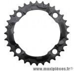 Plateau 32 dents VTT triple acera m361 noir 4 branches marque Shimano - Matériel pour Vélo
