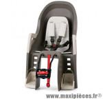 Porte bébé arrière a fixer sur cadre guppy gris fonce coussin gris marque Polisport - Pièce Vélo