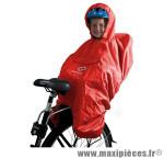 Poncho pour porte bébé orange - Accessoire Vélo Pas Cher
