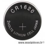 Pile bouton cr1620 3v - Accessoire Vélo Pas Cher