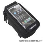 Sacoche de cadre / potence pour portable / i-phone fixation a velcro (sangles tube oversize) marque Newton - Pièce Vélo
