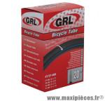 Chambre à air de vélo et de dimensions 20x1.75-2.125 valve presta marque GRL - Pièce Vélo