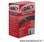 Chambre à air de vélo et de dimensions 26x1.50-2.25 valve standard marque GRL - Pièce Vélo