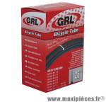Chambre à air de vélo et de dimensions 26x1.50-2.25 valve presta marque GRL - Pièce Vélo